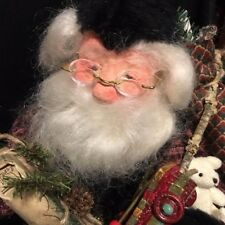 """RARE 18"""" Signed by Artist Dated 2000 Father Christmas SANTA Hand Crafted OOAK"""