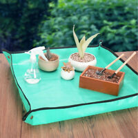Foldable Gardening Mat Flower Pot Fertilizer Blending Soil Changing Ground Pad