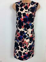 BNWT WOMENS WAREHOUSE FLORAL PRINT SLEEVELESS SHIFT DRESS SIZE 8 RRP £59