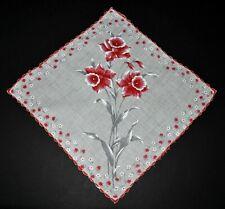 vintage handkerchief SPRING FLOWER PRINT hanky SHABBY COTTAGE CHIC charming