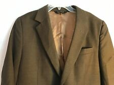 JOS A BANK 100% WOOL BROWN TWO BUTTON MEN's Suit Jacket size 40S