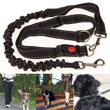 Adjustable Handsfree Elastic Pet Dog Lead Running Jogging Waist Belt Leash Black