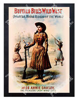 Historic Buffalo Bill's Wild West  Annie Oakley, circa 1900 Advertising Postcard