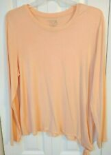 Women's Casual Tee /Tie Knot-Solid-Stretch-Lightweight-Size XL (16/18) Time &Tru