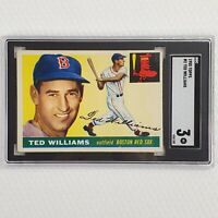 1955 Topps #2 Ted Williams SGC 3