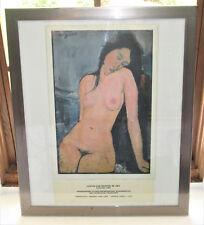 Amedeo Modigliani Nude Female Framed Print 1916 Reproduction 1987