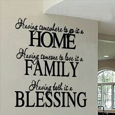 Huhome PVC Wall Stickers Wallpaper English Proverbs HOME living room bedroom hom