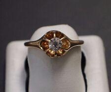 Lady's 14 K Yellow Gold Diamond Ring Size 5.75