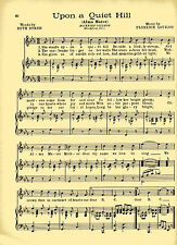"""Vtg ROCKFORD UNIVERSITY COLLEGE song """"UPON A QUIET HILL"""" c 38 ILLINOIS"""