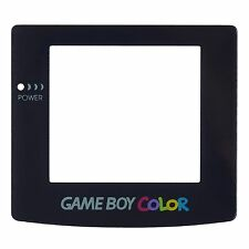 Replacement Clear Screen Plastic for Nintendo GameBoy Color Black