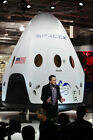 SPACEX CEO ELON MUSK UNVEILING DRAGON V2 8x12 SILVER HALIDE PHOTO PRINT