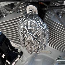 Medicine Bundle horn cover in aged aluminum finish. Harley Davidson. MBA-2