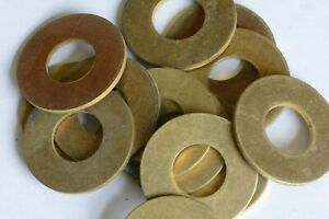 """Solid  Brass 3/8"""" Flat Washers x 25"""