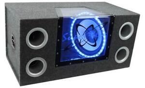 "PYRAMID 12""1200W Car Audio Sub Box Subwoofer Bandpass Box Subs (Refurbished)"