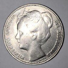 1 Gulden - Wilhelmina Silver coin 1898 excellent condition