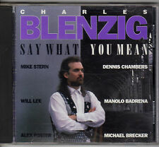 Say What You Mean by Charles Blenzig (CD, Jun-1993, Big World (Continental))
