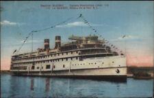 Canada Steamship Lines LE QUEBEC c1920s Postcard