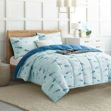 Sets of 2 Pillow Cases + Down Alternative Comforter Reversible Bedding Sets