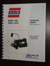 Ammco Model 1000 Brake Lathe Manual