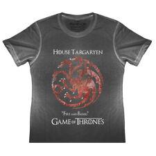 KIDS House Targaryen Game Of Thrones Flag Logo T Shirt Khaleesi Boys Girls Snow