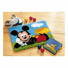 Latch Hook Kit Rug Making Kit : Mickey Mouse -  A Disney Kit By Vervaco 45x35cm