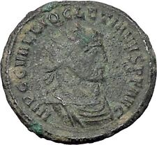 DIOCLETIAN receiving Victory on globe from  JUPITER  Ancient Roman Coin  i47640