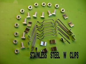 GREENHOUSE STAINLESS  STEEL  KITS  20 TO 100  W AND Z CLIPS AND CROPPED NUTS