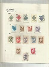 HUNGARY DOCUMENT REVENUE STAMP COLLECTION