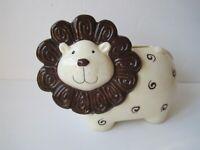 Sanfeng Ceramic FTY Adorable Friendly  Lion Money Piggy Bank Rare To find