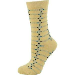 Women's Cotton Geometric Pattern Crew Sock W221SM