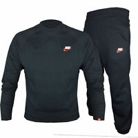 Nike Foundation Crew Neck Full Tracksuit Fleece Jogging Bottms Joggers S M L XL
