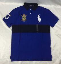 Ralph Lauren Men Custom Slim Fit Polo Shirt Number 3 Blue Black Size M