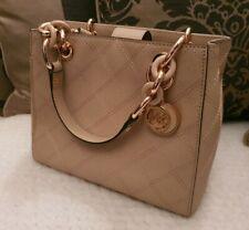 Michael Kors Mercer Handbag Cross Stich Rose Gold - Genuine and Never Used