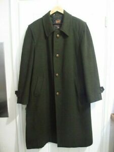 Original Gloverall Mens Duffel Coat – Quality Wool Overcoat - Dark Moss Green –