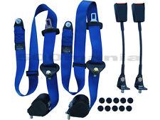 Coppia cinture di sicurezza blu con arrotolatore per Fiat 500 F/L/R- OMOLOGATE