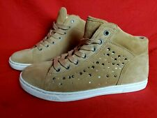 UGG Women 7 Taylah Crystals Tawny High Top Sneakers Shoes Tan Suede Leather