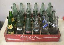 Vintage Crate Of 24 10oz / 6.5oz Various Soda Bottles, Coke, Mello Yello, Nehi,
