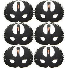 6 Foam Black Swan Masks - Fancy Dress For Children & Grown Ups