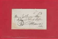 7C with Y cut off Kingston C.W. 1866 stampless cover, Canada