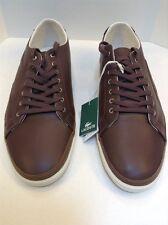 Lacoste Bocana 6 SPM Dark Brown Leather Sneaker Big Crocodile Logo Men 13 US NIB