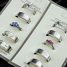 New 25pcs Alloy Rhinestones Mix Fashion Toe Rings Wholesale Body Jewelry Lots