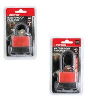 Short OR Long Shackle Waterproof Heavy Duty Steel Shackle Padlock - 40mm