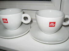 2x Original illy Cappuccino Cups and Saucers Made Italy, in excellent condition