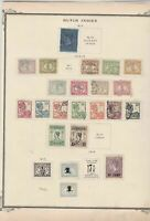 netherlands indies stamps on album page  ref 13538