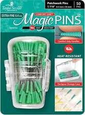 Taylor Seville Magic Pins - Patchwork Extra Fine Green 50/Pkg 766152219584
