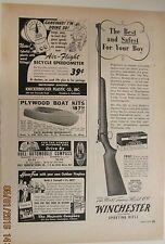 June, 1950 Winchester Model 69 .22 original, vintage magazine advertisement