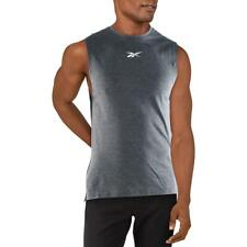 Reebok Para Hombre Gris Fitness Entrenamiento Activewear Camiseta sin mangas Athletic S BHFO 4253