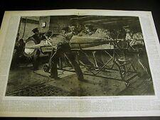 Whitehead Fish Torpedo Practice H.M.S. THUNDERER English Warship 1878 Lrge Print