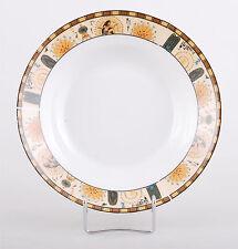 Porcelain Soup Plate 23 cm Serving Bowl Egypt Pharaoh Dining Ceramic Yellow Gold