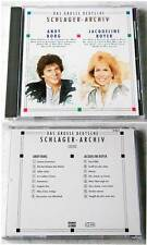 DEUTSCHES SCHLAGER-ARCHIV (B) Jaqueline Boyer/Andy Borg .. 1991 SonoCord Club CD